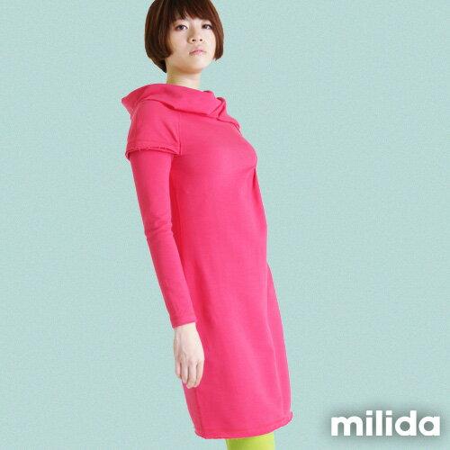 【Milida,全店七折免運】-秋冬單品-洋裝款-歐風造型設計 1