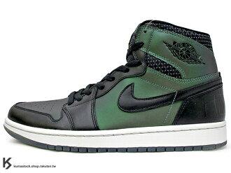 [27.5cm] 2014 滑板式樣 未來經典 NIKE AIR JORDAN 1 SB QS CRAIG STECYK 綠黑 金屬綠 綠金龜 金龜子 AJ RETRO HIGH (653532-00..