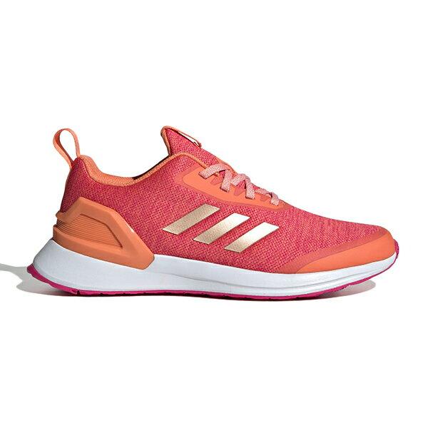 ADIDAS RAPIDARUN X 慢跑鞋 透氣網布 粉橘 大童鞋 大人女生可穿【G27422】