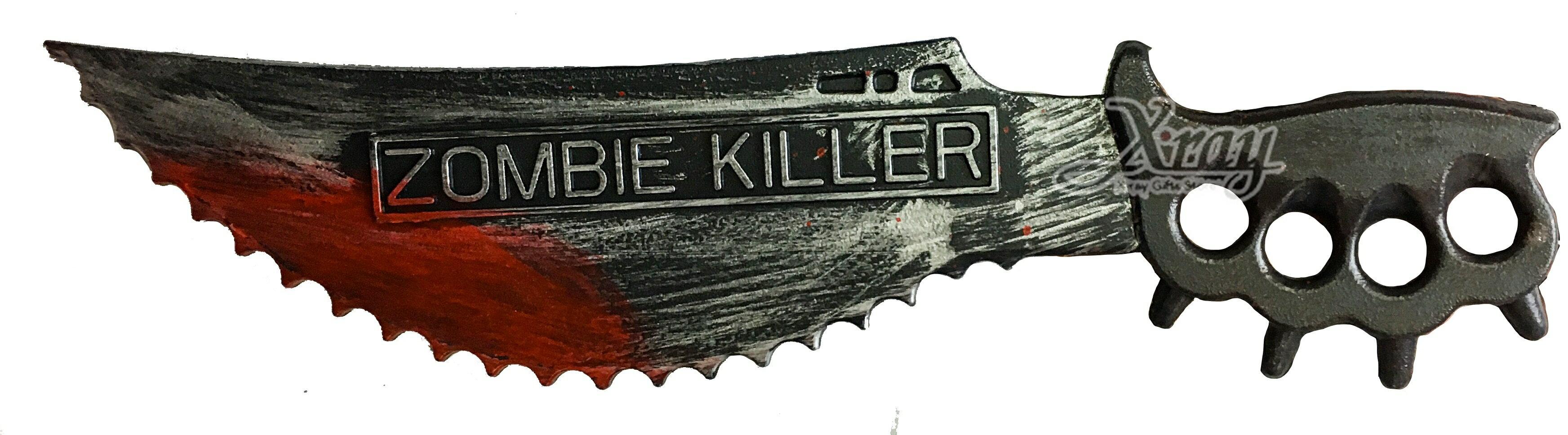 X射線【W287332】20吋帶血殭屍殺手刀,萬聖節 / 武器 / 道具刀 / Party / 遊戲用刀 / 化妝舞會 / 武器配件 0