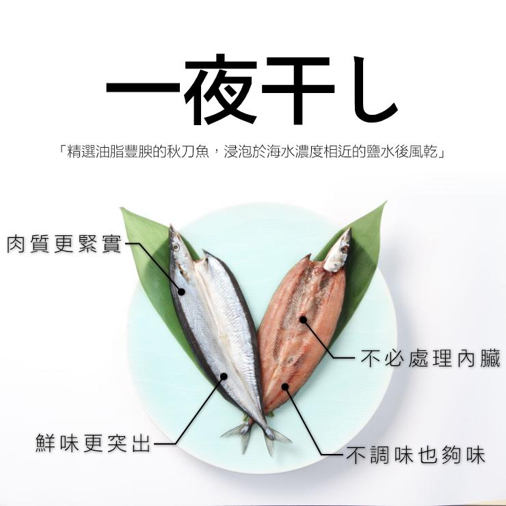 「免運」日本秋刀魚一夜干 超肥美 兩尾裝 自家捕撈品質保證【家適海鮮】《全館任選四件免運》 3