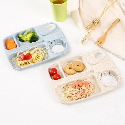 【WaBao】小麥系列分格餐盤 可微波 可放水杯 營養午餐 便當盒 有杯架 109567
