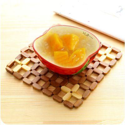 【WaBao】鏤空竹製隔熱墊 餐桌墊 碗墊 餐墊 (大號) D0C079-1