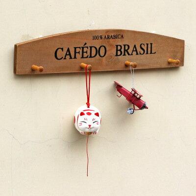 【WaBao】復古實木牆壁掛勾 衣架 吊架 置物架 收納架 掛架 H00601