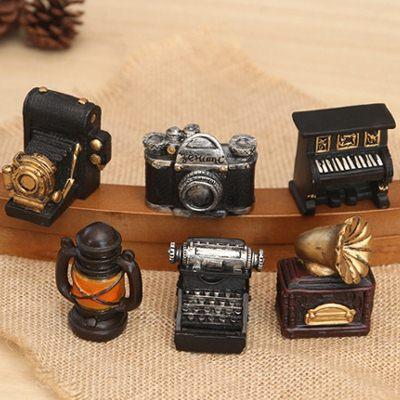 【WaBao】Zakka雜貨 復古點唱機照相機鋼琴造型迷你家居擺飾 裝飾擺件 H06893