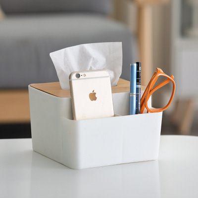 【WaBao】創意竹製面紙盒 紙巾盒 桌面收納盒 Z03075