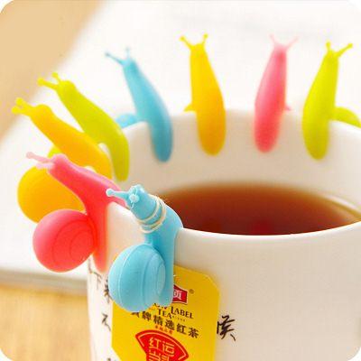 【WaBao】可愛派對蝸牛矽膠茶包掛 杯緣子 Z06052