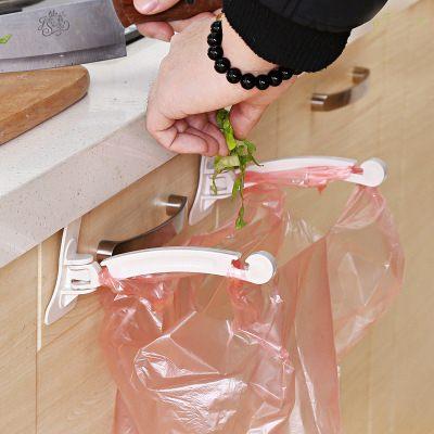 【WaBao】櫥櫃塑膠袋掛勾2個入 掛式垃圾桶 Z06132