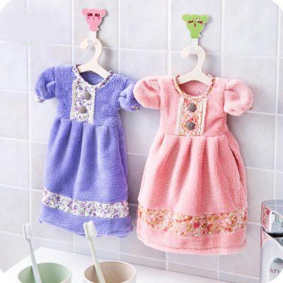 【WaBao】可愛連衣裙珊瑚絨擦手巾 Z09003