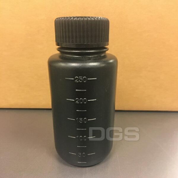 《DGS》塑膠黑色廣口瓶PE250ml日製