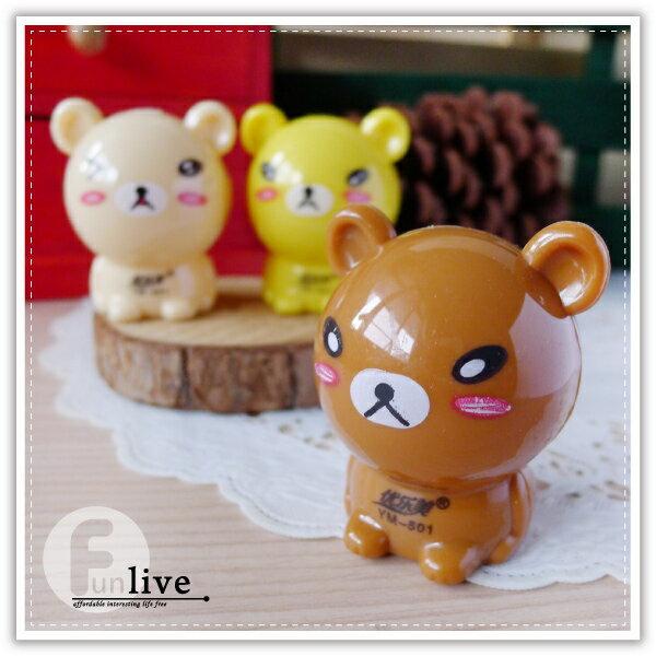【aife life】小熊削鉛筆機/可愛造型 療癒小物 簡易型削鉛筆器/色鉛筆/木頭鉛筆/辦公文具用品/贈品禮品