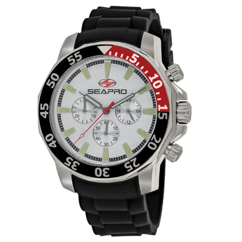 Seapro Men's Scuba Explorer Watch Quartz Mineral Crystal SP8330