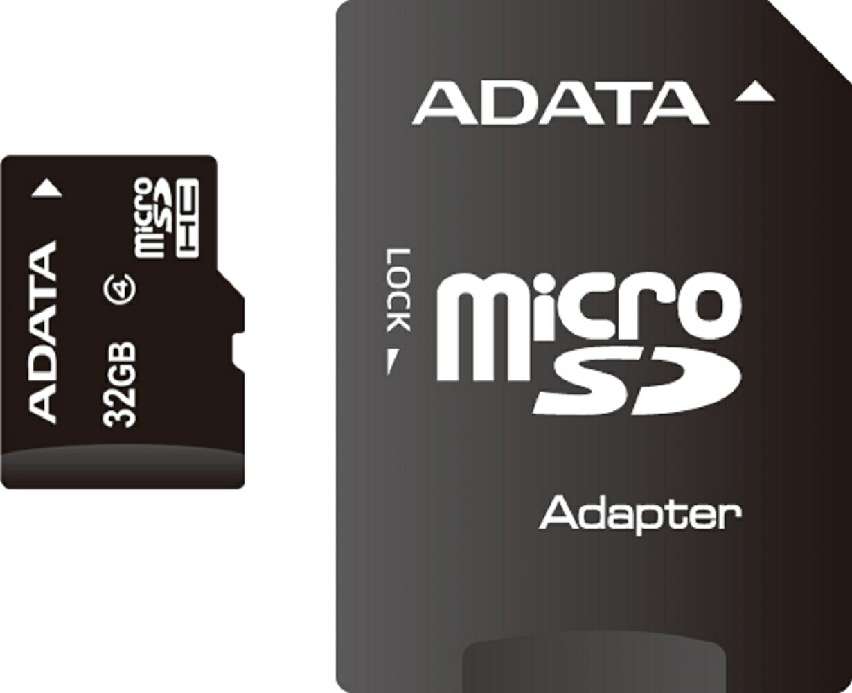 ADATA microSDHC Class 4 Card 32GB with Adapter (AUSDH32GCL4-RA1) 0