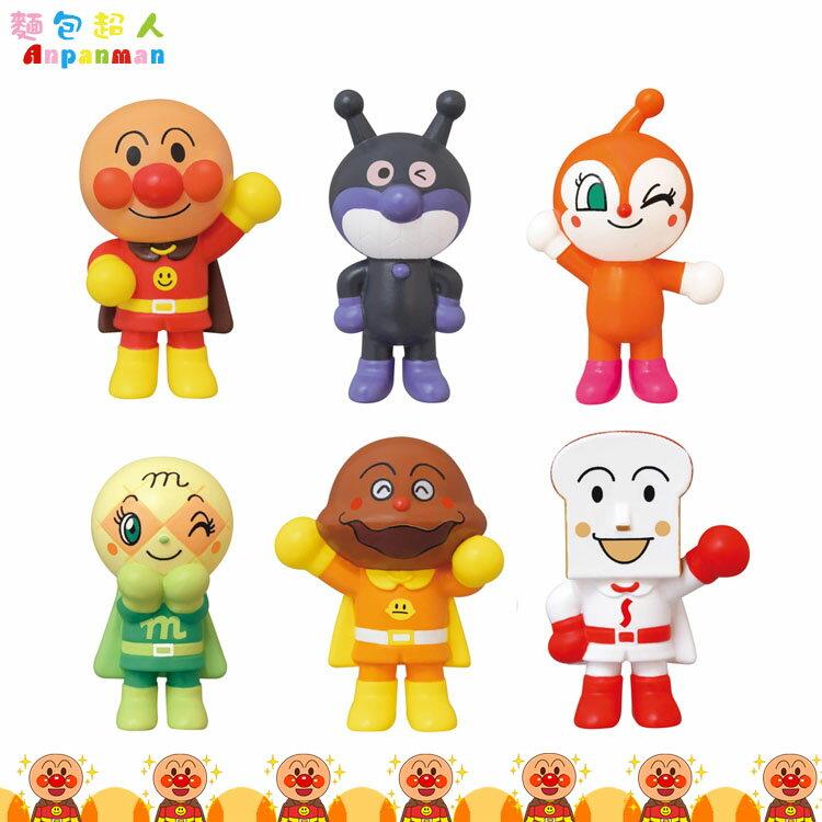 麵包超人 Anpanman 6入人形 地圖玩具 公仔 兒童玩具 扮家家酒玩具 日本進口正版 797132