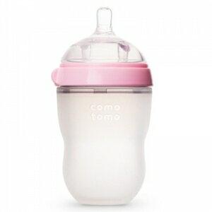 韓國【Comotomo】矽膠奶瓶 250ML-1入裝(粉)