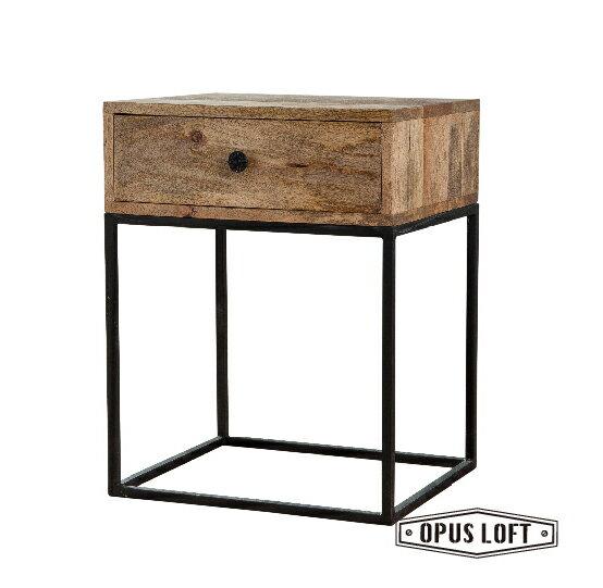 純真年代Opus Loft:LOFT工業風鐵框腳單抽床頭櫃