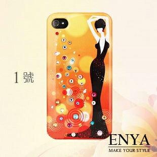 iPhone4S 時尚插畫女孩系列 手機殼 Enya恩雅(郵寄免運)