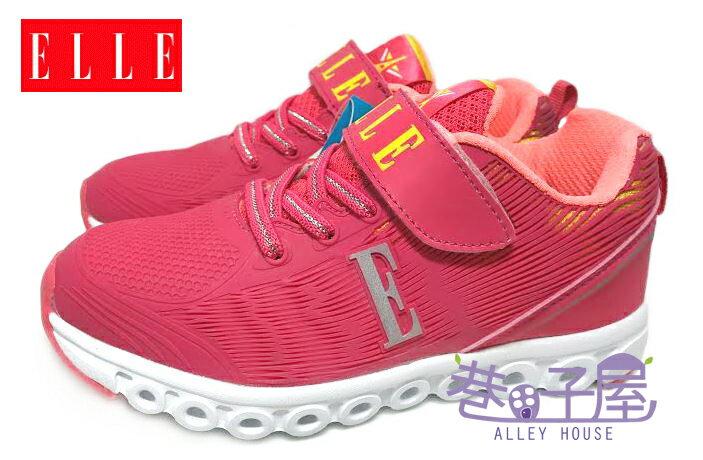【巷子屋】ELLE 夜光系列-女童康特杯輕量運動慢跑鞋 [52122] 桃粉 超值價$398