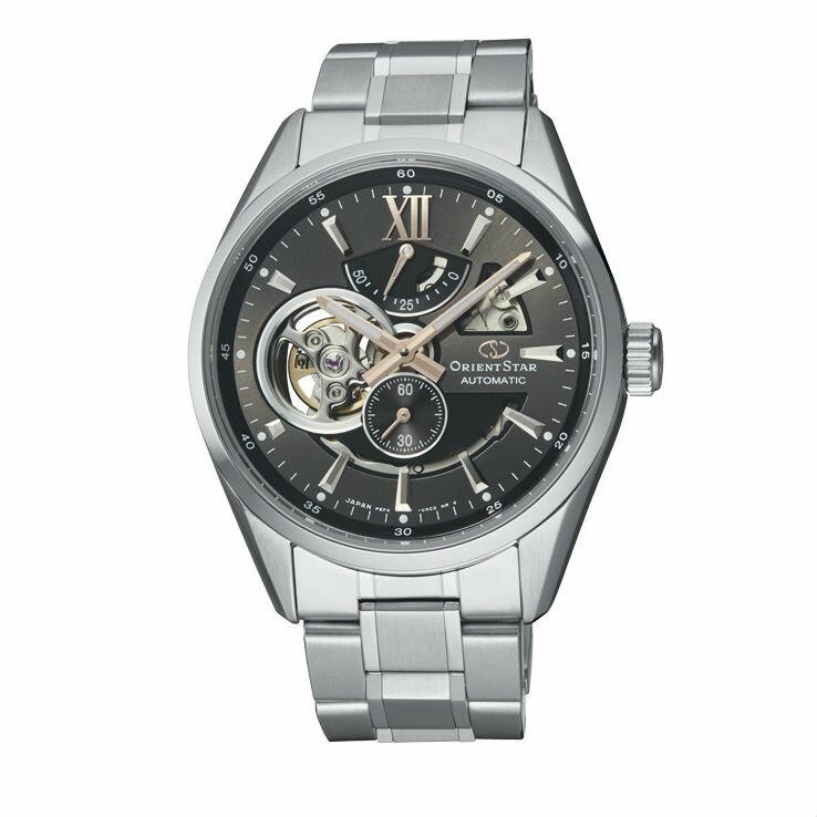 Orient 東方錶 (RE-AV0004N) OPEN HEART系列 鏤空機械錶 鋼帶款 / 灰 41mm - 限時優惠好康折扣