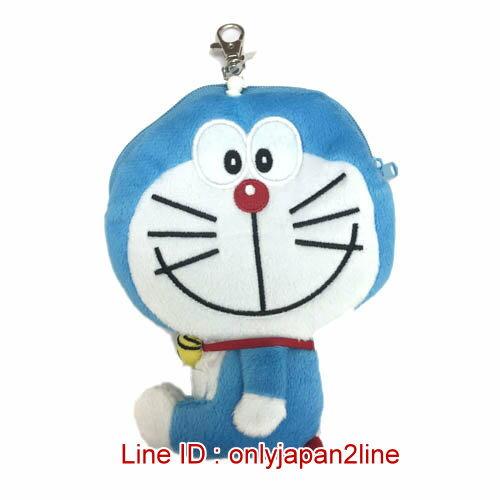 【真愛日本】16122800002全身伸縮票卡零錢包-微笑叮噹   Doraemon 哆啦A夢 小叮噹 票卡夾 零錢包