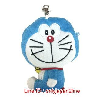 【真愛日本】16122800002全身伸縮票卡零錢包-開嘴微笑   Doraemon 哆啦A夢 小叮噹 票卡夾 零錢包