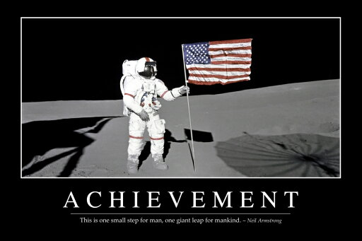 StockTrek Images PSTSTK107059MLARGE Achievement - Inspirational Quote & Motivational Poster. It Reads - This is One Small Step for Man One Giant Leap for Mankind. Neil Armstrong Poster Print, 34 x 22 - Large caedd7897e9b4fca0e075253cceb5810