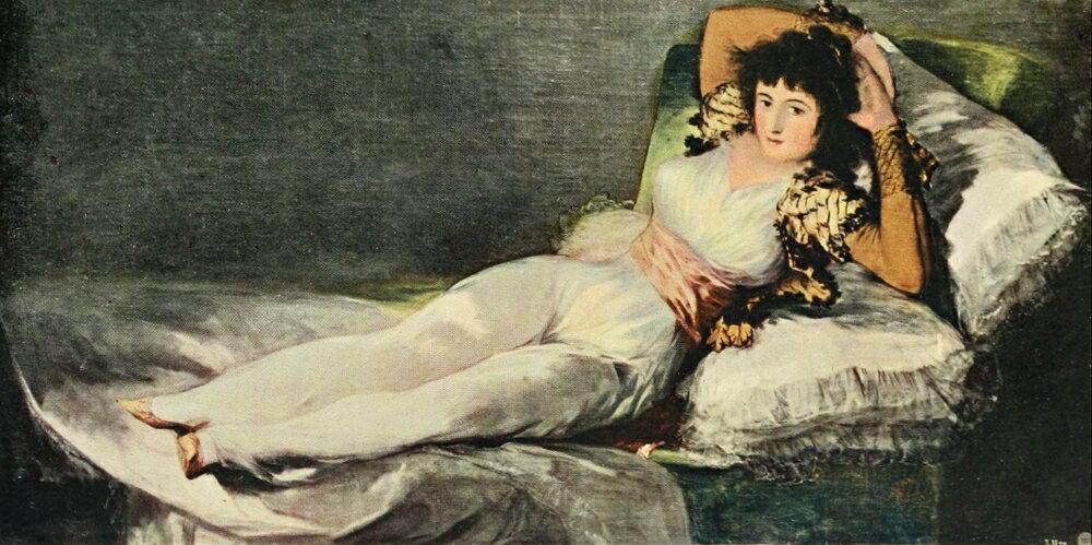 Posterazzi: Goya 1914 La Maja Clothed Stretched Canvas