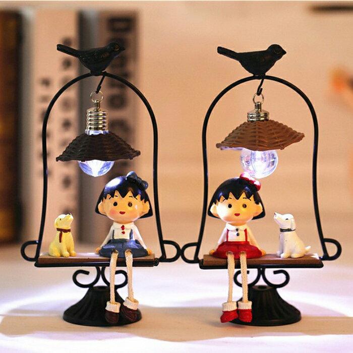 糖衣子輕鬆購【DS203】Zakka日式雜貨櫻桃小丸子創意小夜燈工藝裝飾生日禮物交換禮物