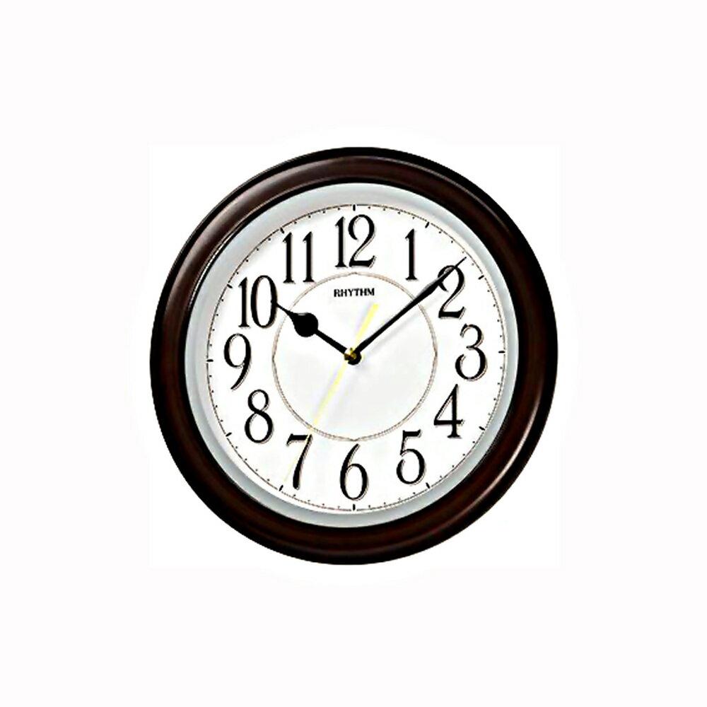 RHYTHM 日本麗聲 CMG523 時尚居家仿木紋精緻古典靜音掛鐘 - 限時優惠好康折扣