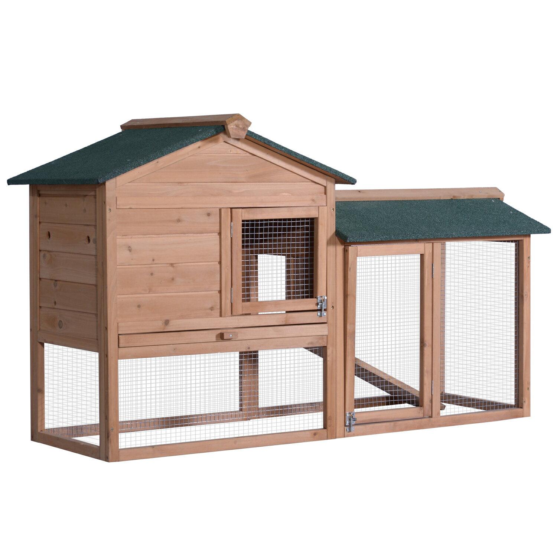 Lovupet 58 Deluxe Wooden En Coop Backyard Nest Box Pet Cage Rabbit Hen Hutch