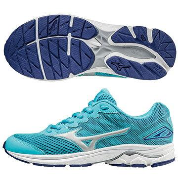 K1GC172504(水藍X白)親子人氣共同鞋款 WAVE RIDER 20 Jr.童鞋 S【美津濃MIZUNO】