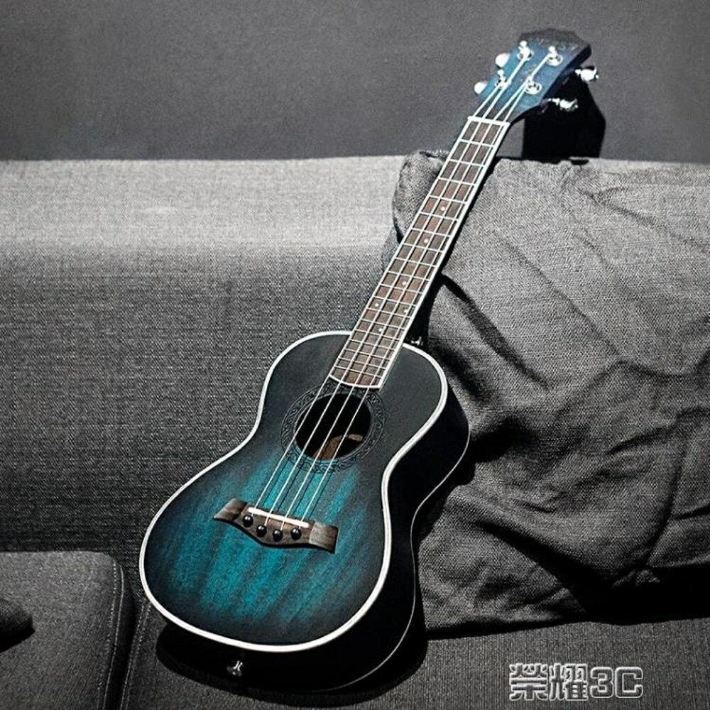 尤克麗麗 安德魯桃花心23寸藍色ukulele尤克里里小吉他學生初學烏克麗麗 JD  榮耀3c 2