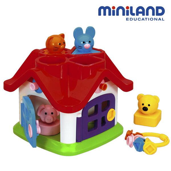 東喬精品百貨商城:免運費【西班牙Miniland】動物寶寶幾何形狀配對屋