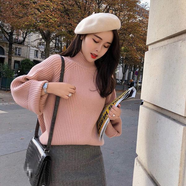 PS Mall 寬鬆氣質喇叭袖小高領毛衣 上衣 【T1902】 - 限時優惠好康折扣