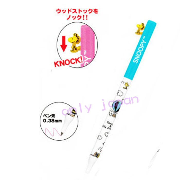 【真愛日本】17122300041 造型塔克鳥按壓筆-SN藍 史努比 SNOOPY 日用品 文具用品 筆類