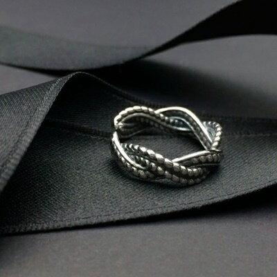 ~925純銀戒指銀飾~ 亮眼簡約螺旋生日情人節 女飾品73ic22~ ~~米蘭 ~