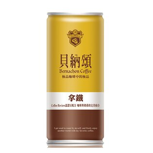 貝納頌經典拿鐵咖啡210ml*6入【愛買】