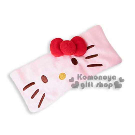 〔小禮堂〕Hello Kitty 束髮帶~粉.大臉.立體蝴蝶結~彈性伸縮