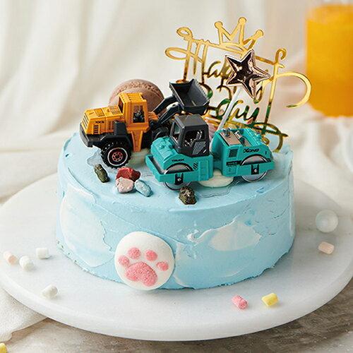 工程車隊長B 8吋【PATIO帕堤歐】造型蛋糕/生日蛋糕/卡通蛋糕