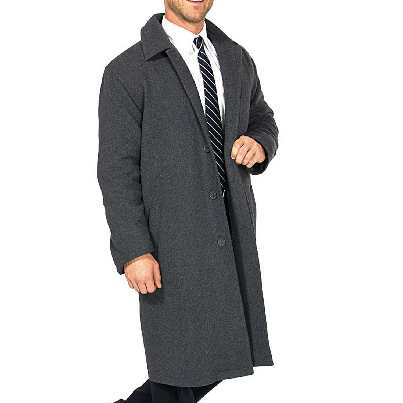 Alpine Swiss Men's Zach Knee Length Jacket Top Coat Trench Wool Blend Overcoat 7