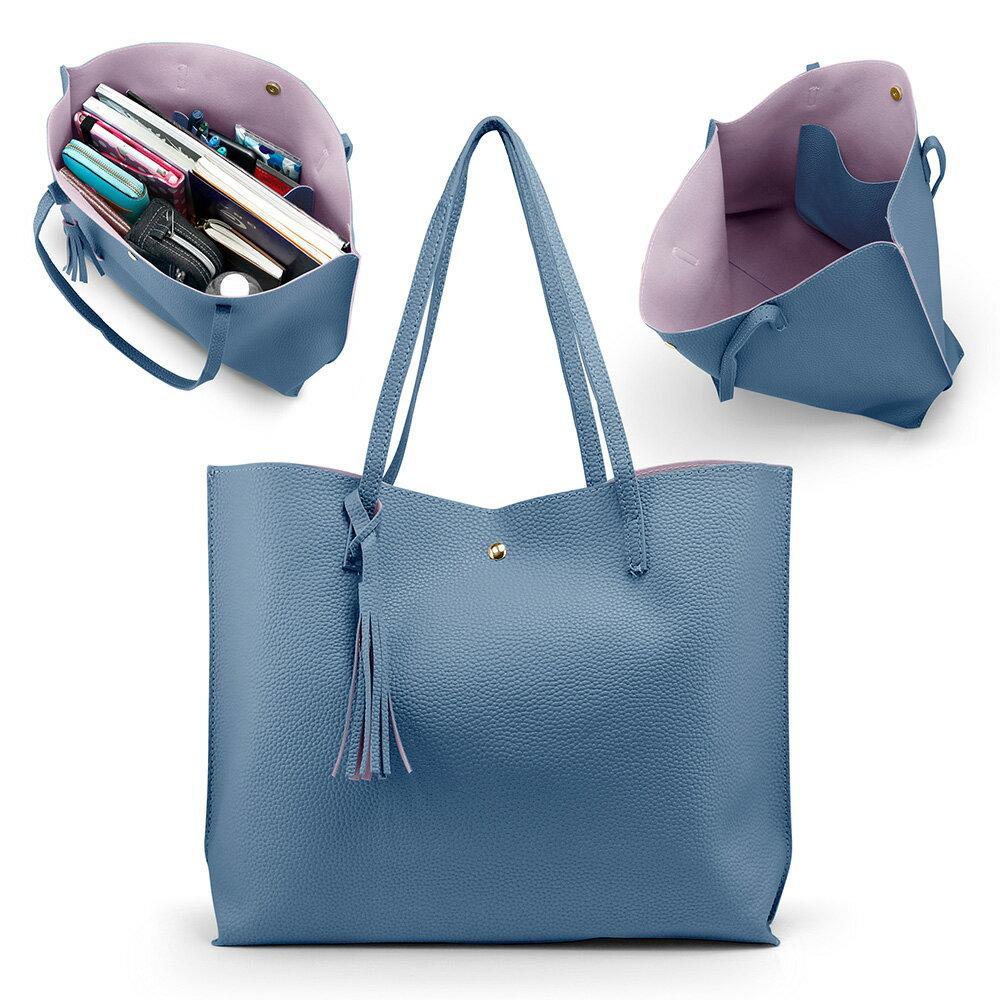 Women Tote Bag Tassels Leather Shoulder Handbags Fashion Ladies Purses Satchel Messenger Bags 3