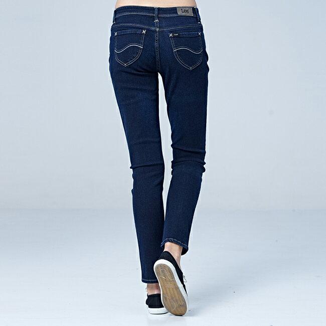 Lee 433高腰合身窄腳牛仔褲 / RG-深藍色 2