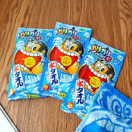 日本 嘎哩嘎哩君冰涼感毛巾(20x20cm) 小方巾 涼感巾 手帕 Leaffresh【N202067】