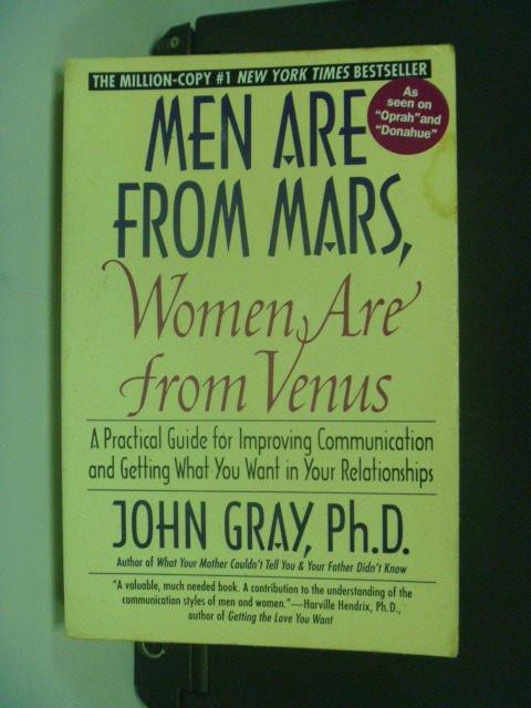 【書寶二手書T5/兩性關係_MHC】Men Are from Mars, Women Are