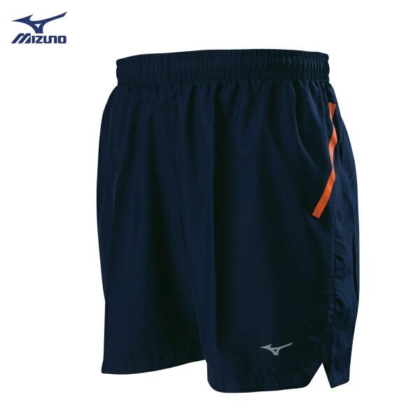 J2TB805114(深丈青)股下13cm後中拉鍊口袋設計男路跑褲【美津濃MIZUNO】