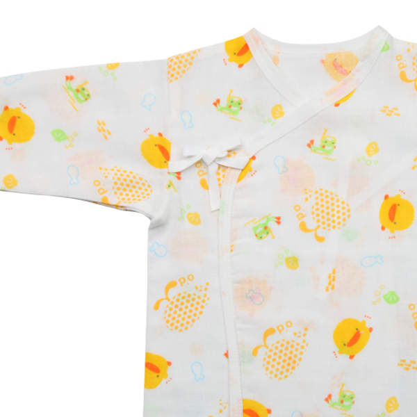 『121婦嬰用品館』黃色小鴨 印圖紗布肚衣 1