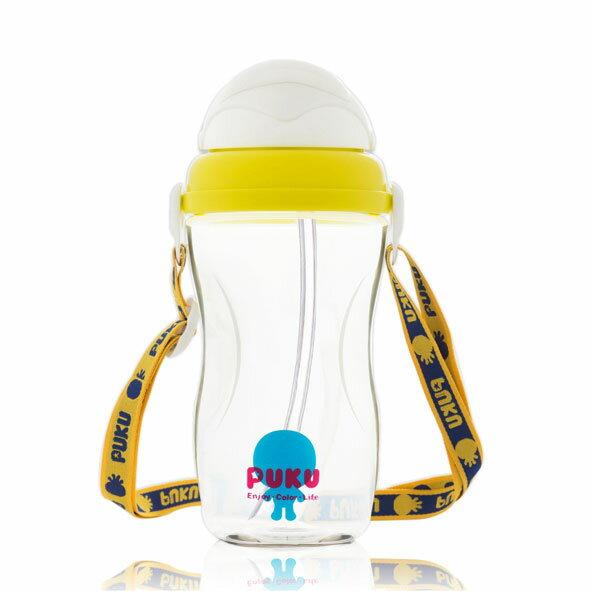 【悅兒園婦幼生活館】Puku 藍色企鵝 太空滑蓋揹帶水壺 360ml