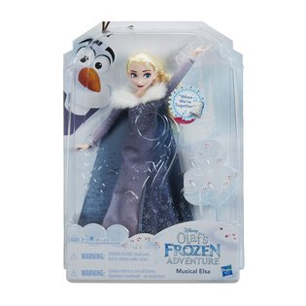 《Disney迪士尼》冰雪奇緣雪寶的佳節冒險-歡唱艾莎