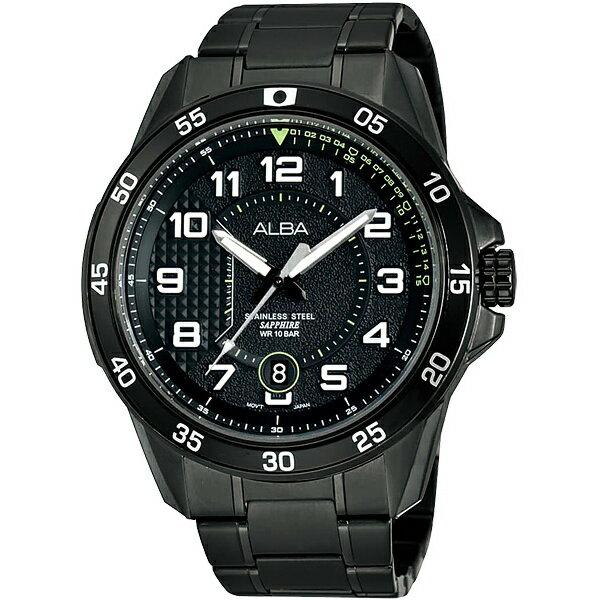 ALBA VJ42-X075SD(AS9505X1)暗影方程式時腕錶/黑面45mm