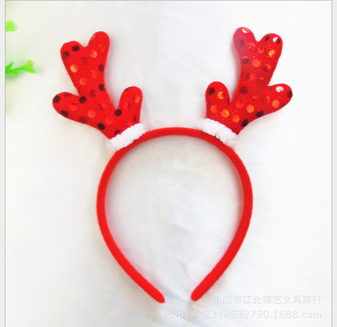 東區派對-聖誕節服裝,聖誕帽/聖誕節髮箍/亮片聖誕鹿角髮箍